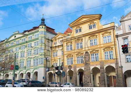 Baroque Houses In Prague