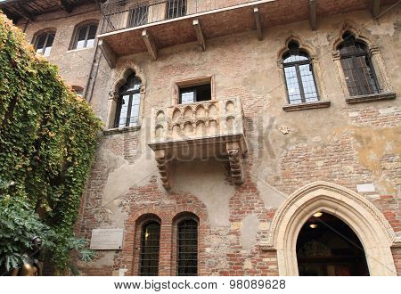 Juliet's balcony of Verona