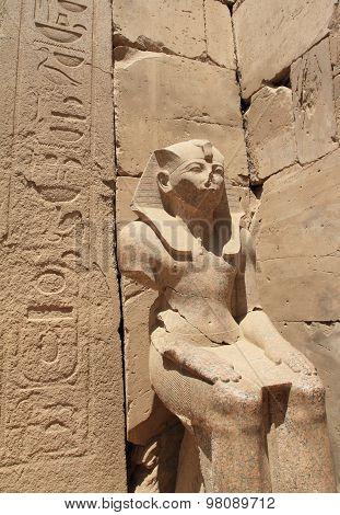 Pharaoh statue of Karnak Temple