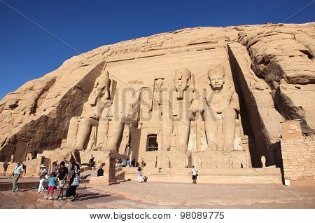 Abu Simbel Temple in Nubia