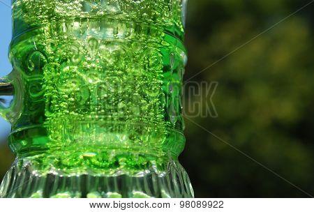 Bright green drink