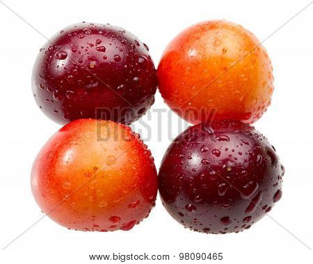 Macro Of Two-coloured Cherries