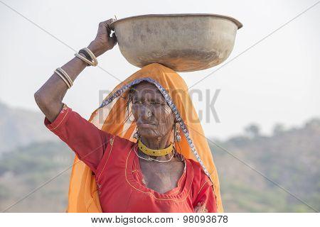 Indian Woman. Pushkar Camel Mela, India