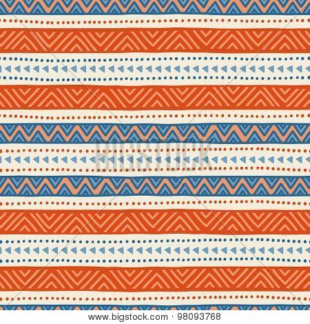 Simple striped seamless ethnic pattern.
