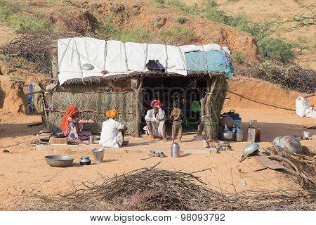 Indian Family. Pushkar, India