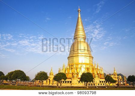 Sunshine Morning Golden Pagoda