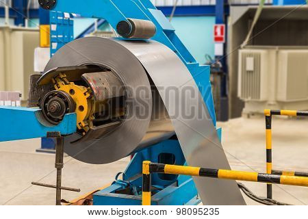 Steel Coil On Machine