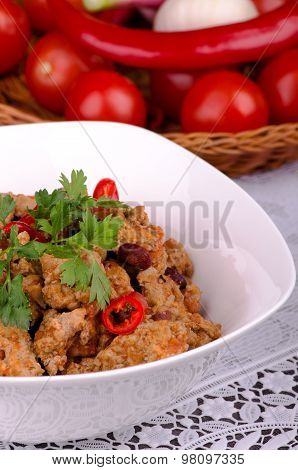 Chili Con Carne With Vegetables And Beans