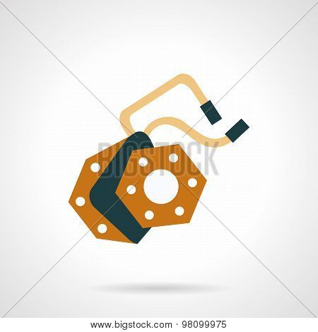 Part for e-bike flat vector icon