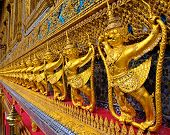 picture of glorify  - Golden garuda decoration in the temple of Emerald Buddha - JPG