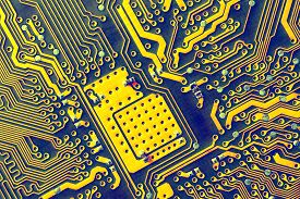pic of extreme close-up  - Circuit Board - JPG
