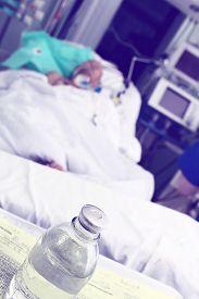 foto of icu  - Heavy patient in ICU ward - JPG