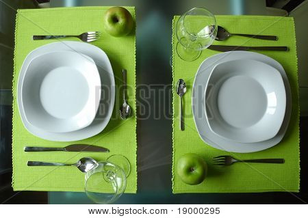 Modern dining set for two