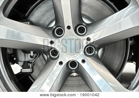 Car wheel - closeup