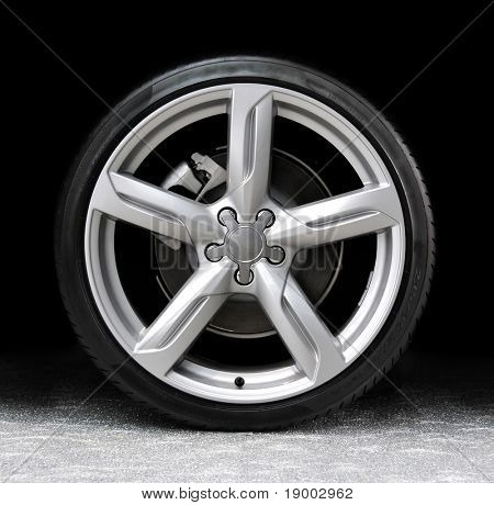 Car tire - ready for advertisement