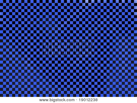 Black and blue checkered design