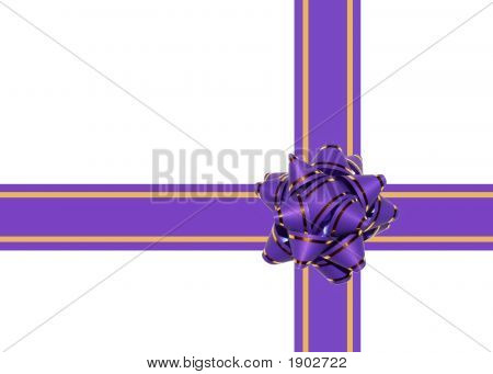 Celebration Bow Isolated On White
