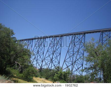 Train Bridge Over Old Man River
