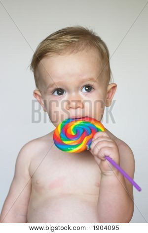 Toddler With Lollipop