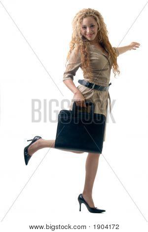 Happy Working Girl