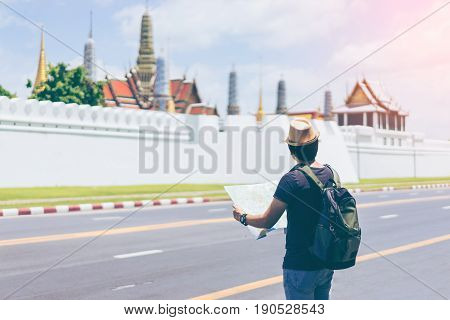 Young man traveler