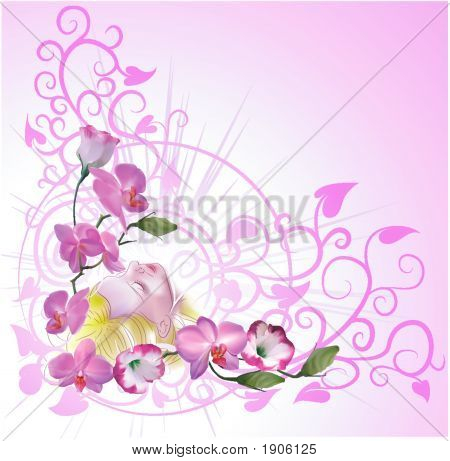 Floral Woman Background