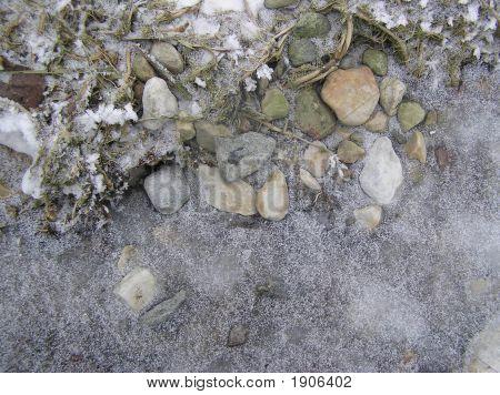 Piedras en un hielo