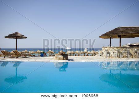 Pool At Greek Island Resort