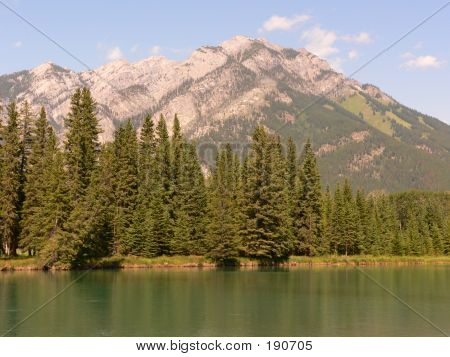 Banff Mountain And River