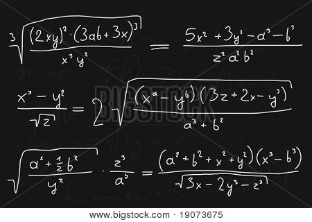 Mathematic blackboard