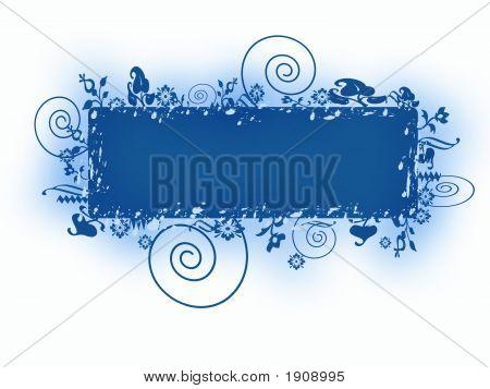 Blue Banner Grunge