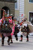 foto of mummer  - Bulgaria mummers parade 2008 - JPG