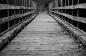 image of old bridge  - wood bridge over the occoquan river in woodbridge virginia - JPG