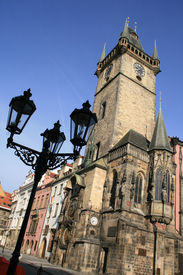 foto of city hall  - Old Town Hall of Prague  - JPG