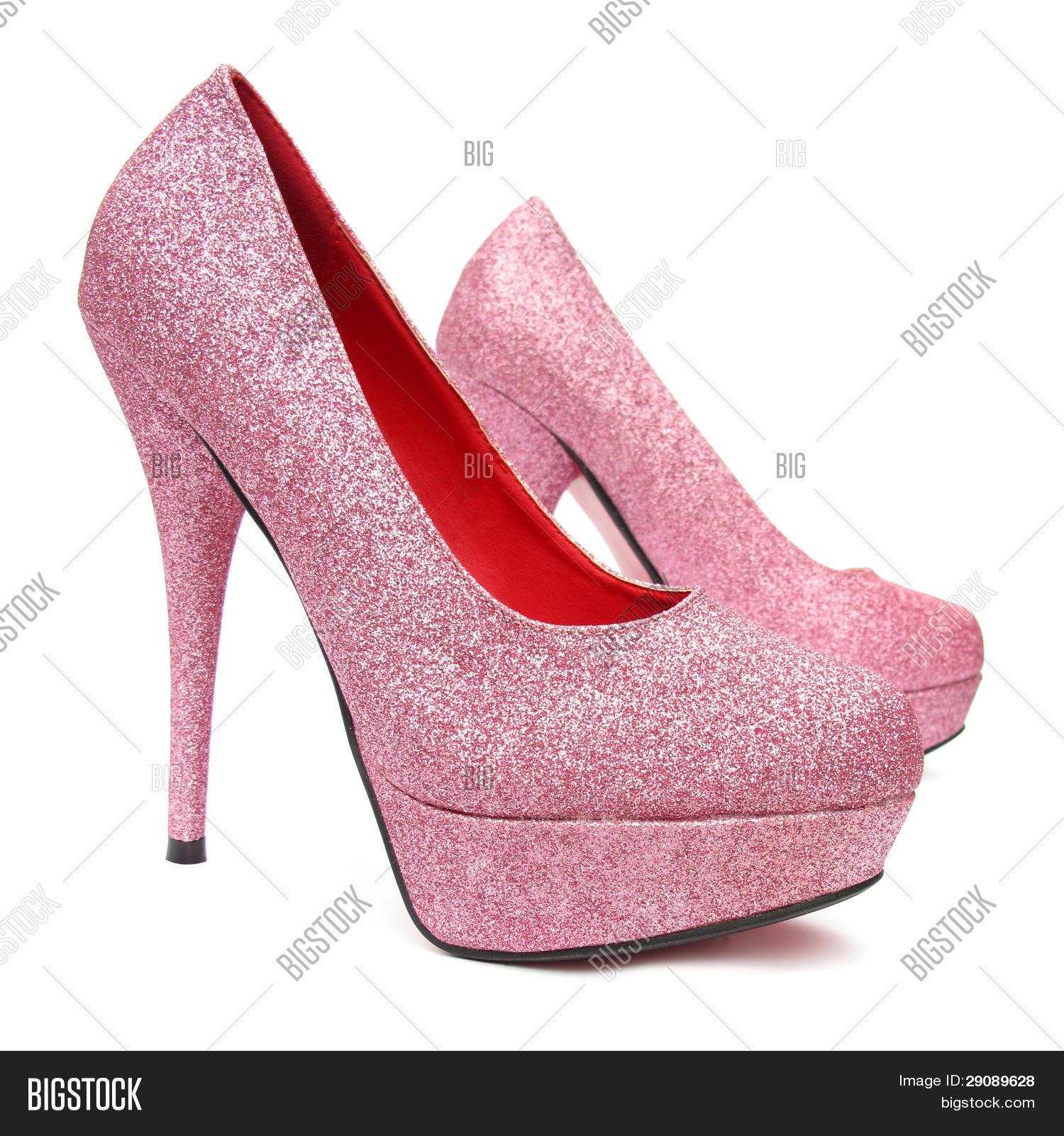 pink high heels pump shoes image photo bigstock. Black Bedroom Furniture Sets. Home Design Ideas