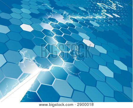 Electric Hexagon Background Concept