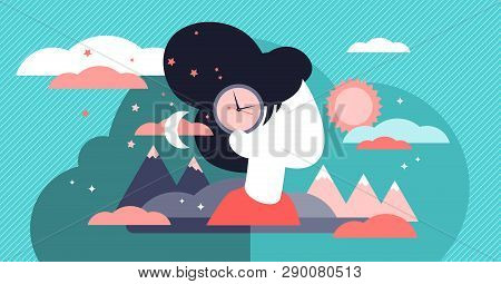 Biological Clock Vector Illustration Flat