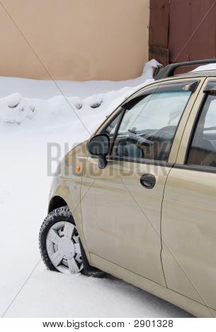 Car On White Snow