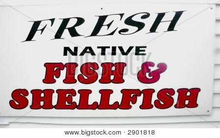 Fresh Native Fish & Shellfish Sign