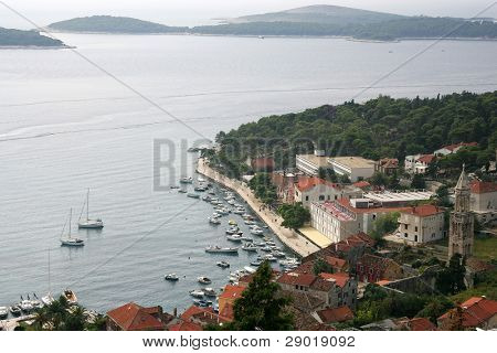 Marina on island of Hvar-Croatia
