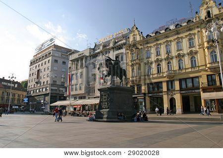 Ban Josip Jelacic square in Zagreb, Croatia