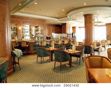 Elegant and luxurious restaurant/bar interior