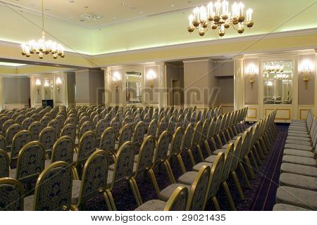 Luxurious conference room ready for audience