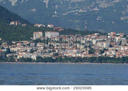 Sea view of Crikvenica, little city on Croatian coast