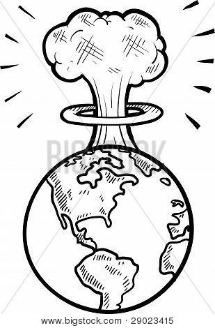 Global apocalypse sketch