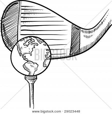 World golf sketch