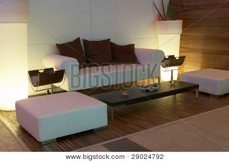 Modern decor waiting room