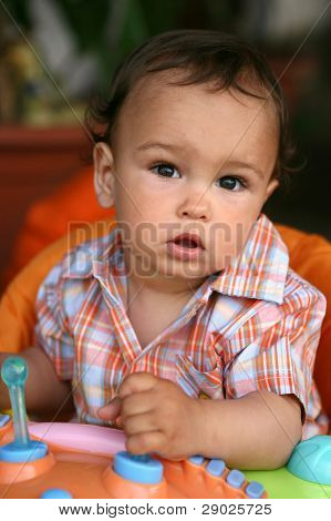 Cute toddler boy portrait