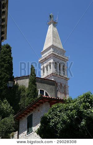St. Euphemia church tower in Rovinj, Croatia