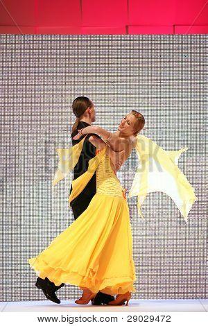 ZAGREB, CROATIA - FEBRUARY 4: Couple dancing on 'Wedding days' show, February 4, 2011 in Zagreb, Croatia.